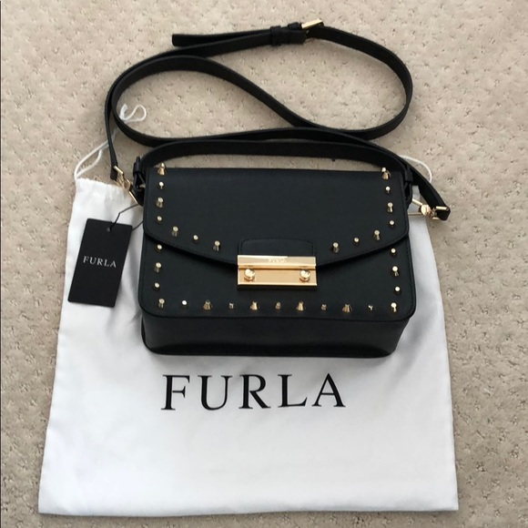 e1a318f7fc481a Furla Bags | Nwt Studded Saffiano Leather Crossbody Bag | Poshmark